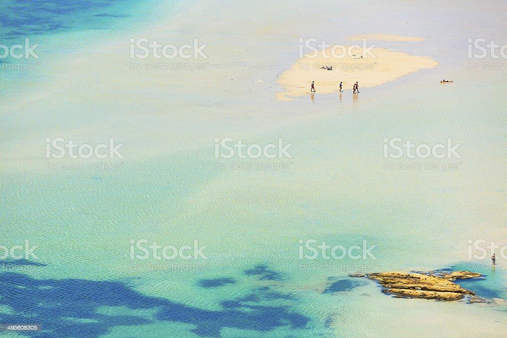 Cretan beach stock photo