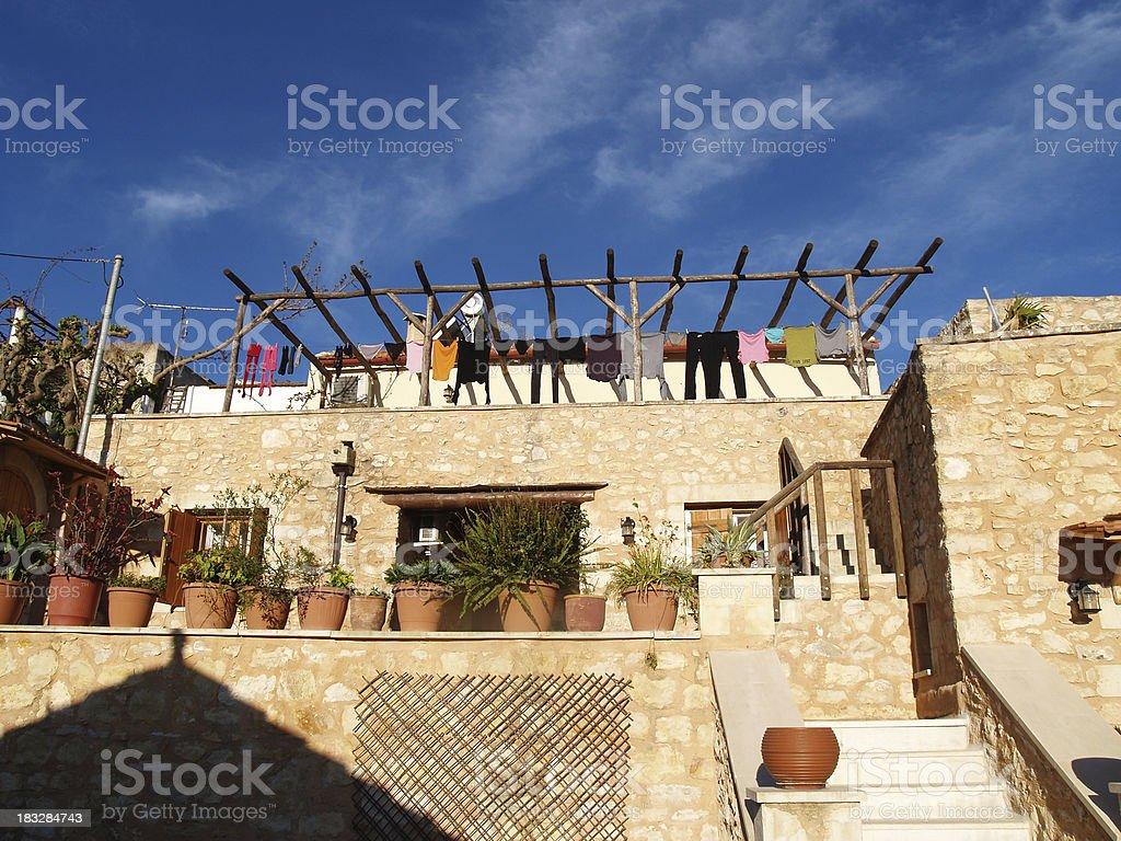 Cretan home royalty-free stock photo