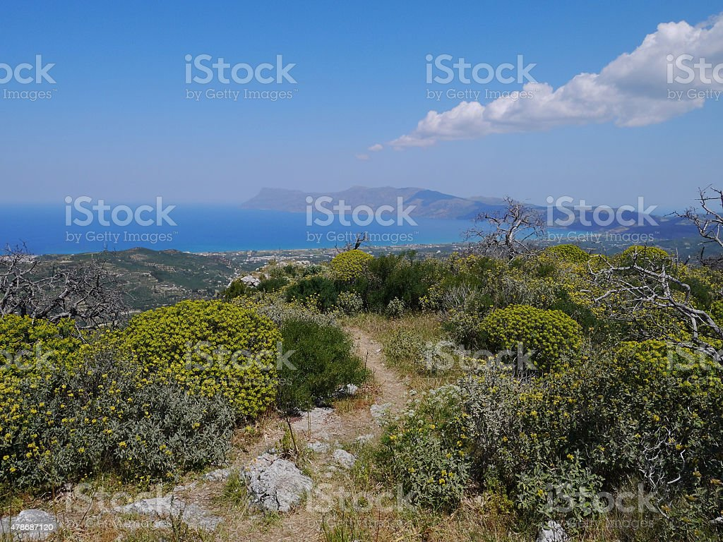 Cretan landscape stock photo