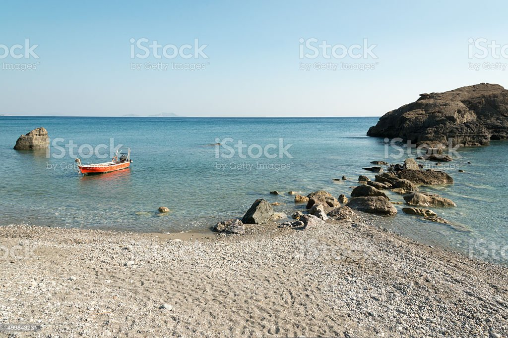 Cretan south coast stock photo