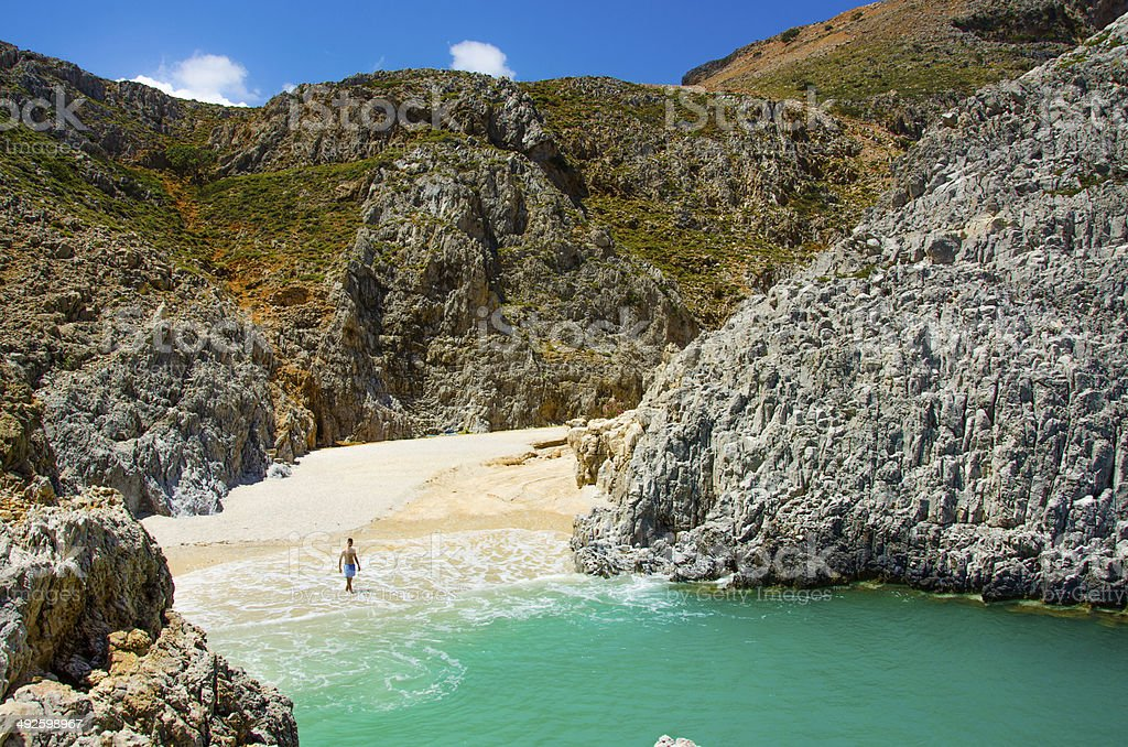 Crete Bay stock photo