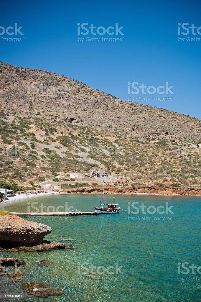 Crete Coast Lagoon Greece royalty-free stock photo