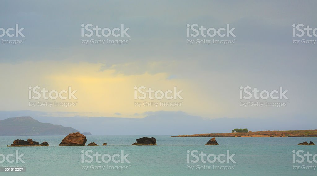 Crete coast stock photo