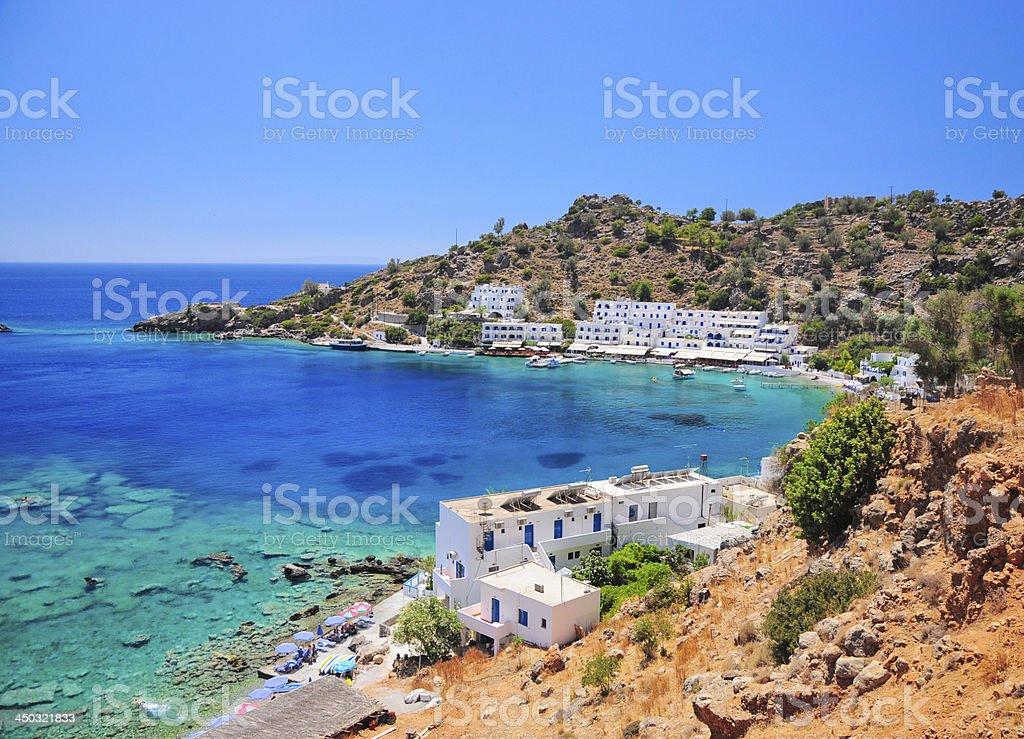 Crete, Loutro stock photo