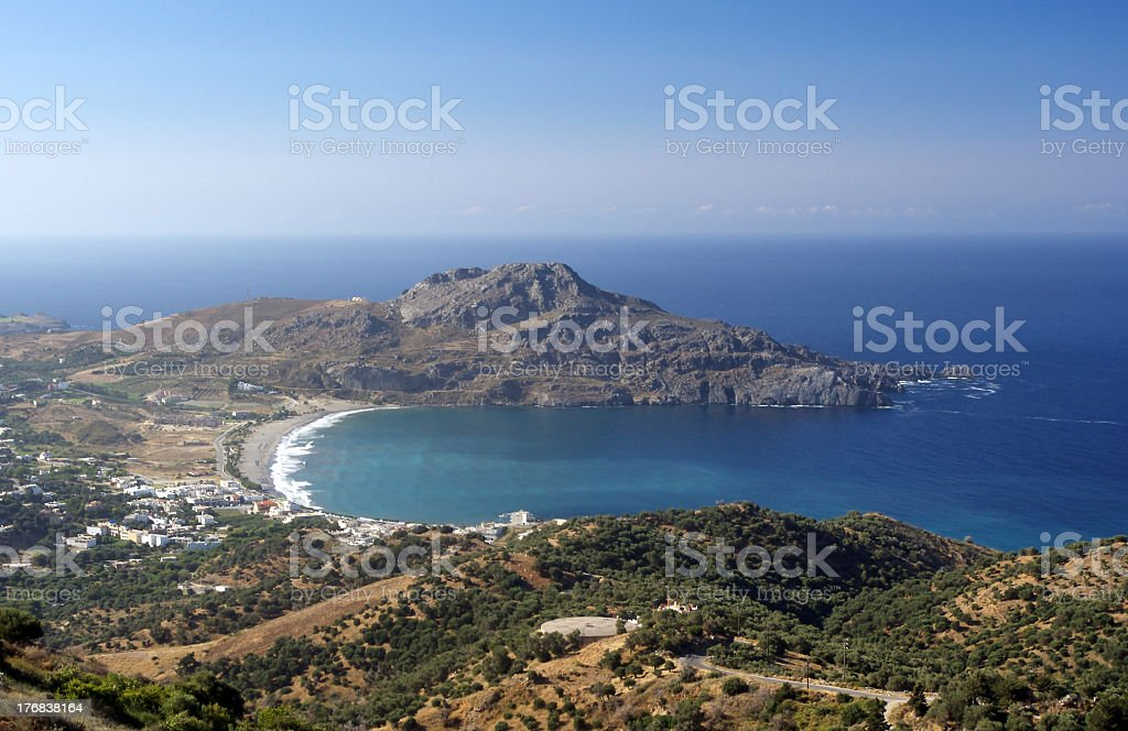 Crete, Plakias Bay stock photo