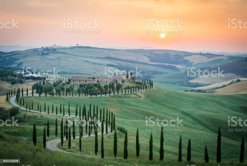 Crete Senesi, Asciano, Tuscany, Italy stock photo