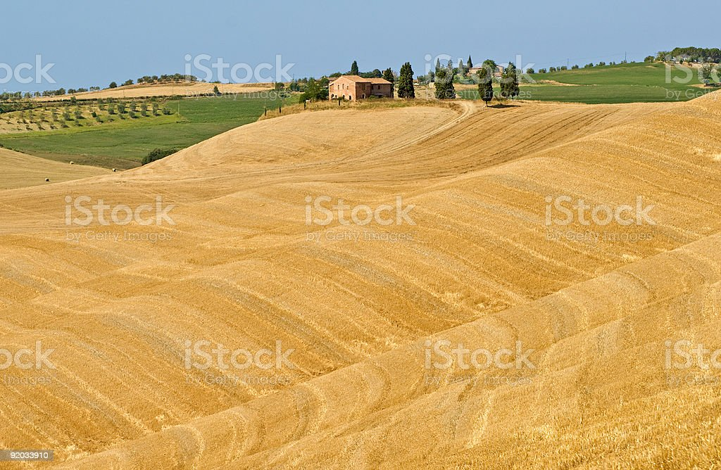 Crete senesi, characteristic landscape in Val d'Orcia royalty-free stock photo