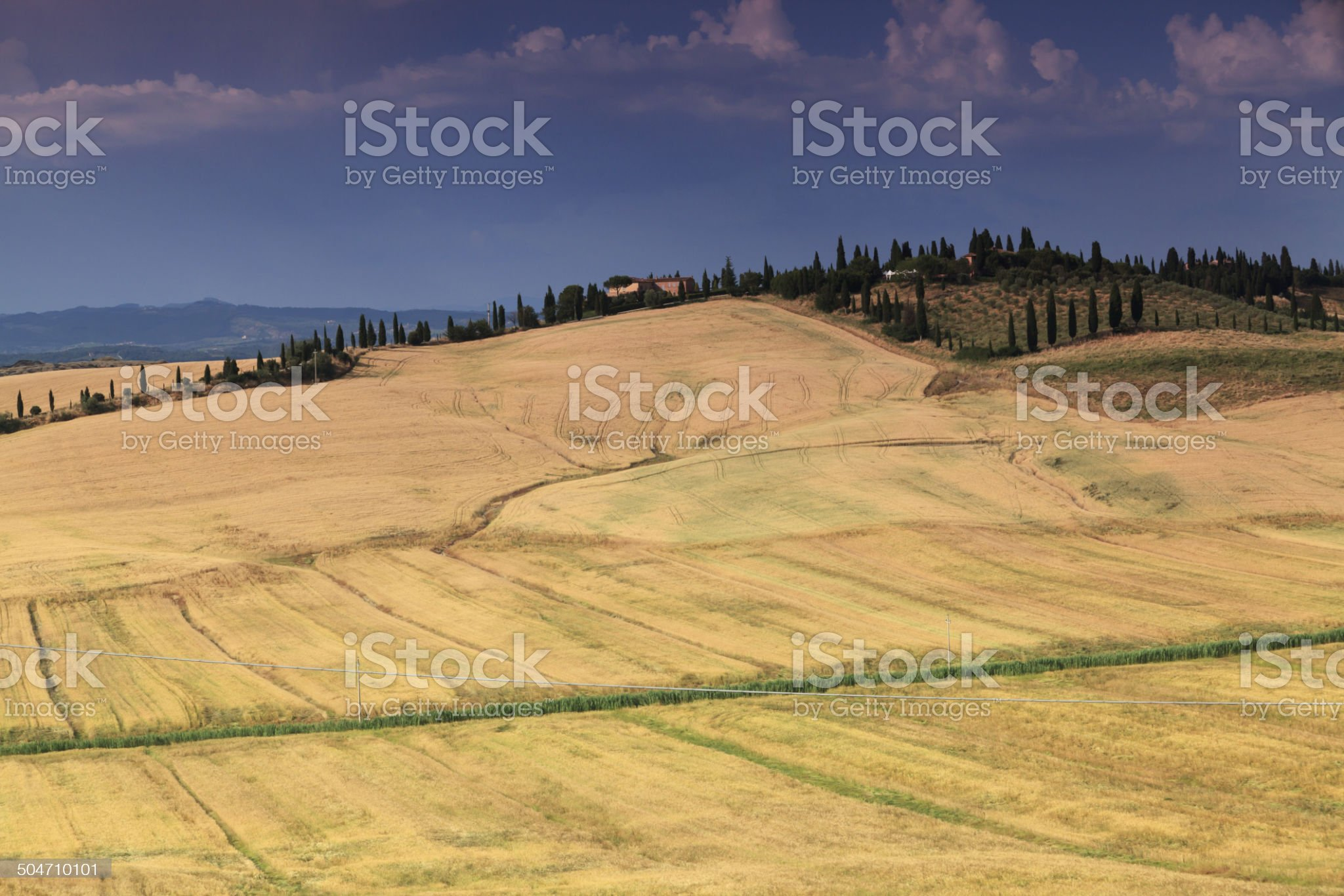 Crete senesi, hills close up in Val D'Orcia, Tuscany. royalty-free stock photo