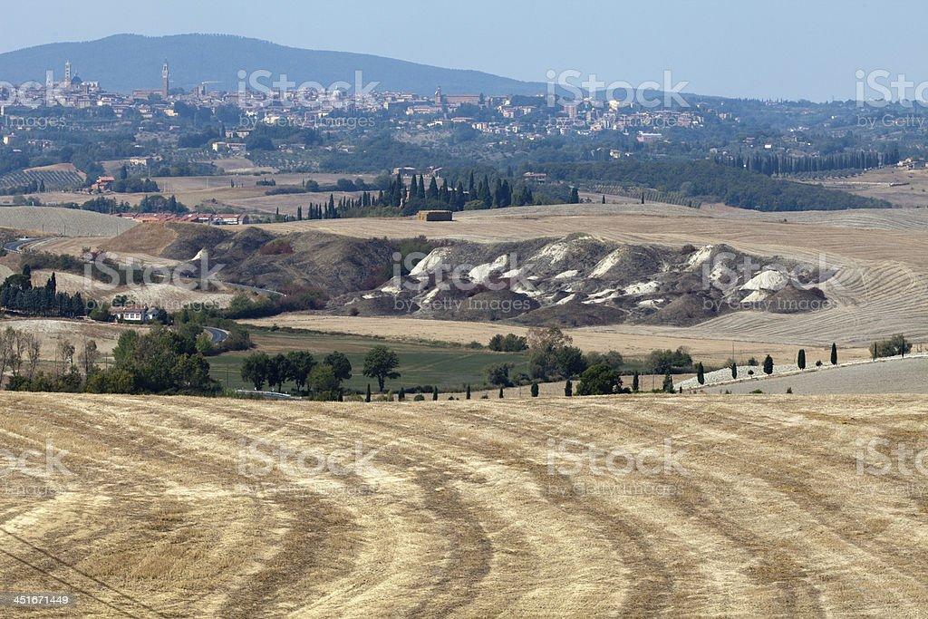 Crete Senesi -  landscape of the  Tuscany royalty-free stock photo