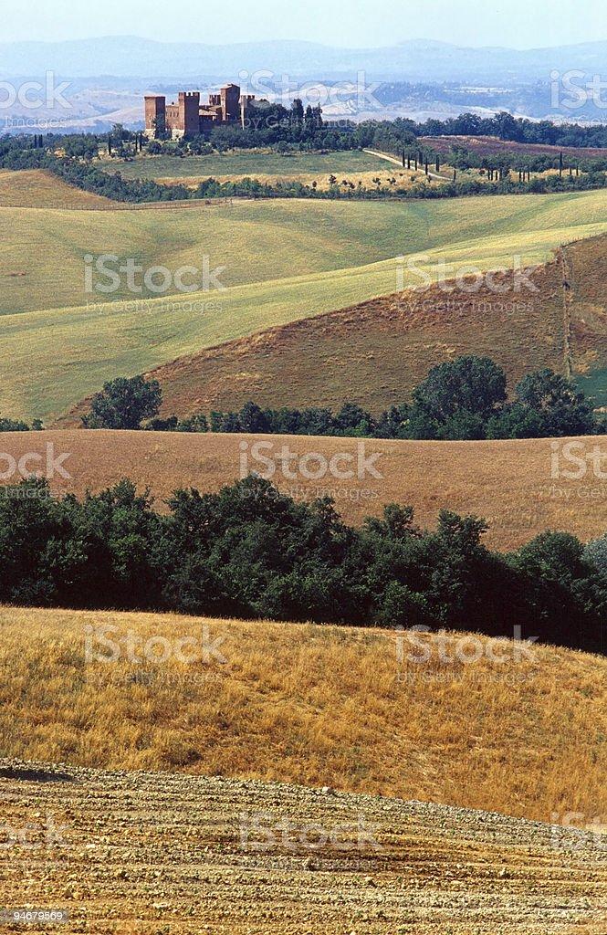 Crete Senesi, Tuscany landscape at summer royalty-free stock photo