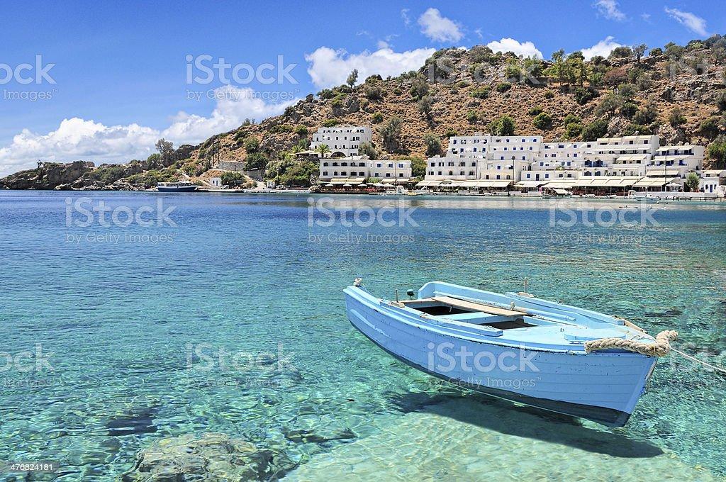 Crete, village of Loutro stock photo