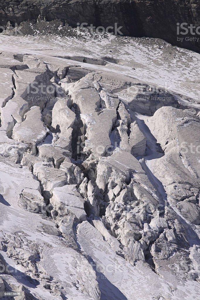 crevasse of a glacier royalty-free stock photo