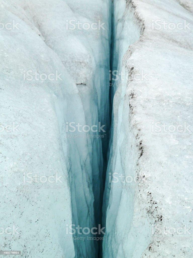 crevasse stock photo