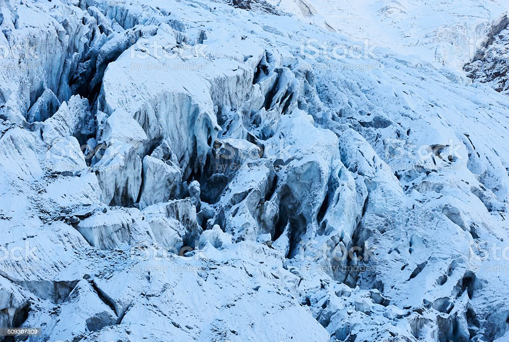 Crevasse stock photo