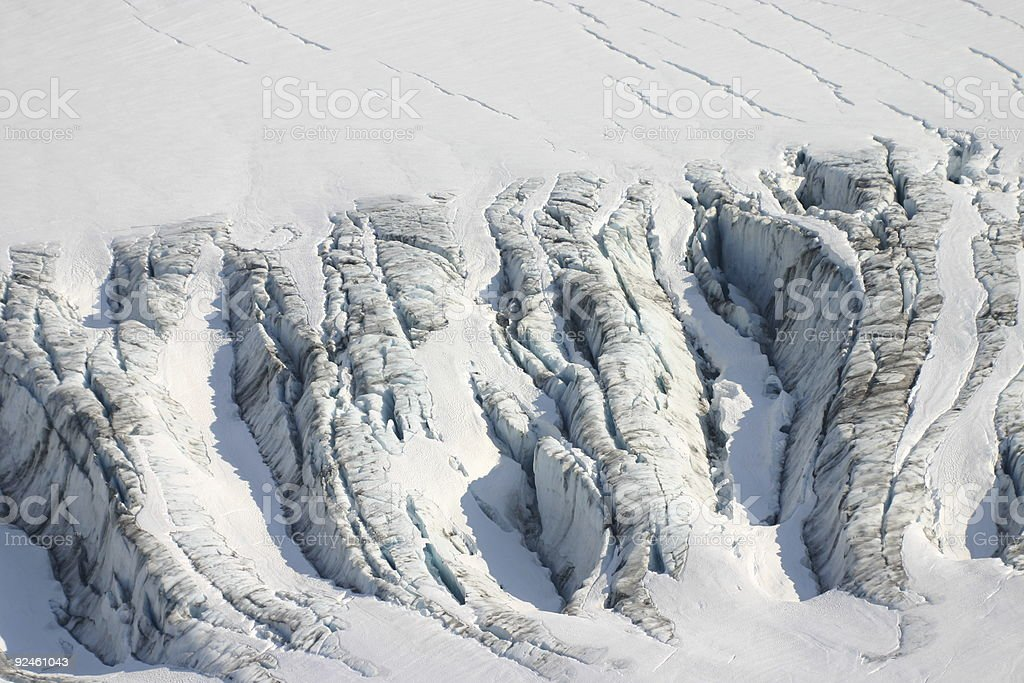 Crevasse royalty-free stock photo