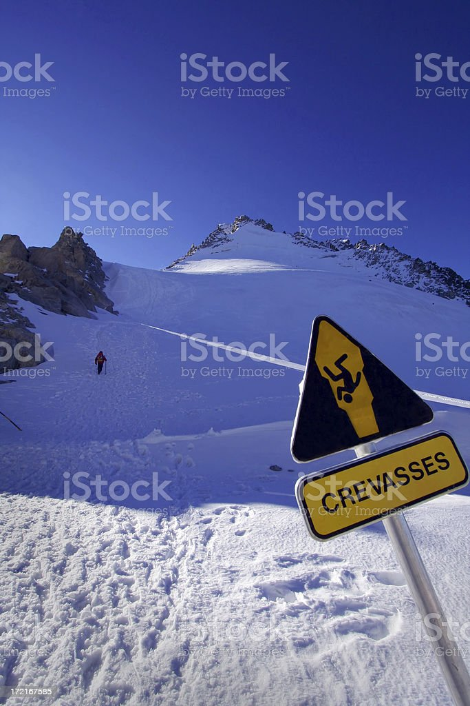 crevasses sign royalty-free stock photo