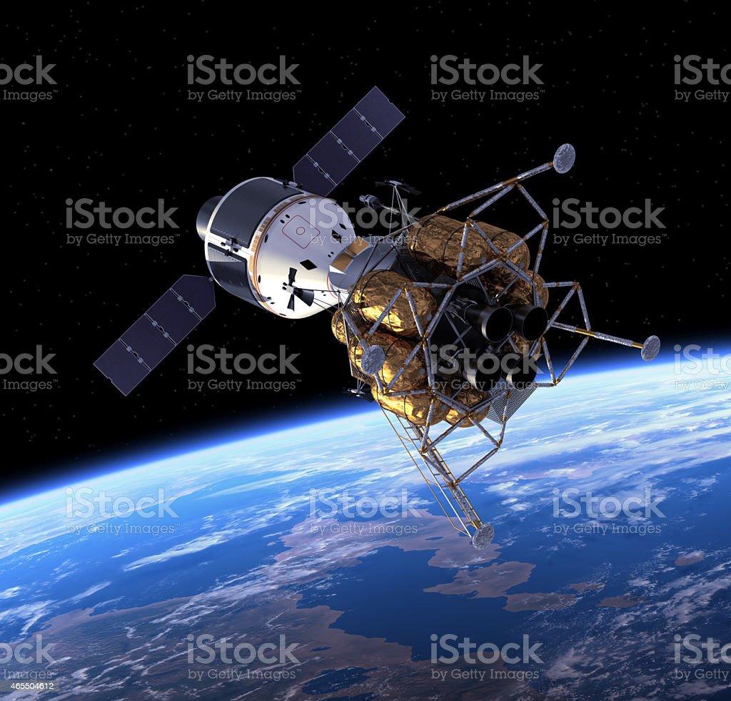 Crew Exploration Vehicle In Space. stock photo