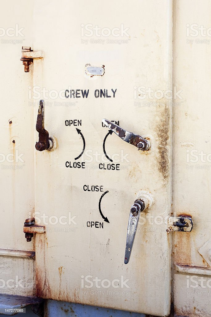 Crew Only royalty-free stock photo