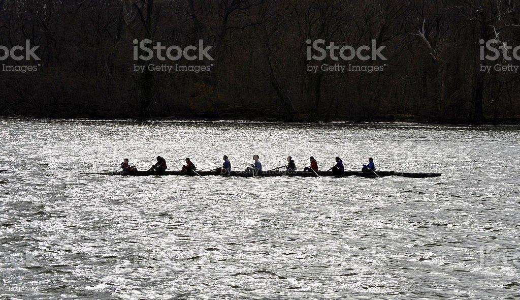 Crew Practice stock photo