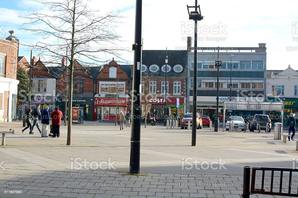 Crewe Town Centre stock photo