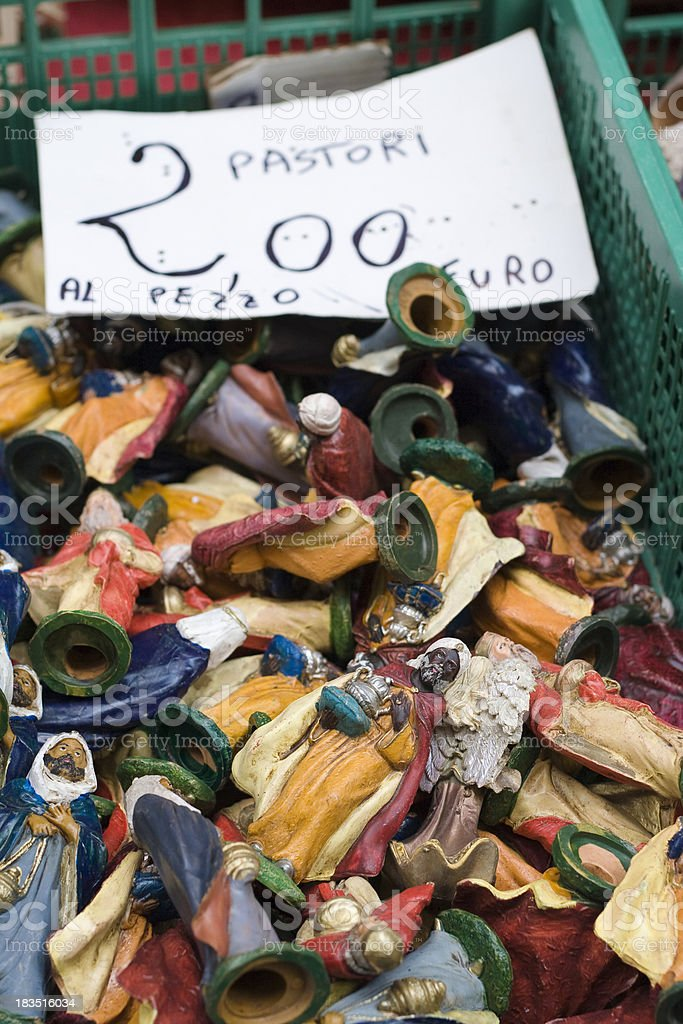 Crib Figurines for Sale in Naples stock photo