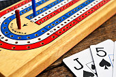 Cribbage Board and Playing Cards