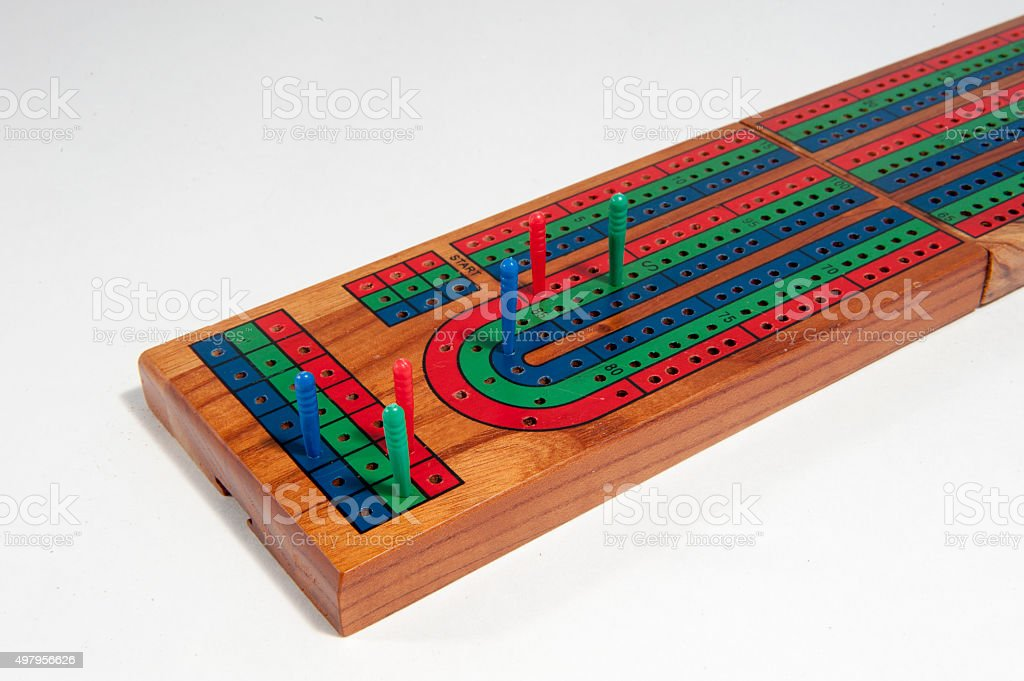 Cribbage board stock photo
