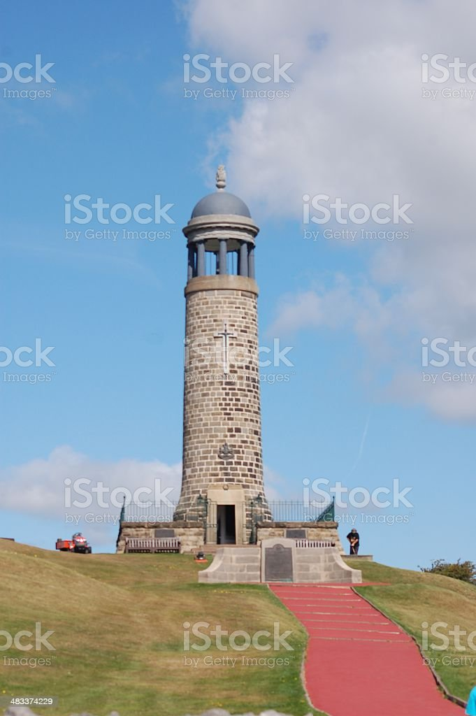 Crich Tower, War Memorial to the Mercian Regiment, Derbyshire stock photo