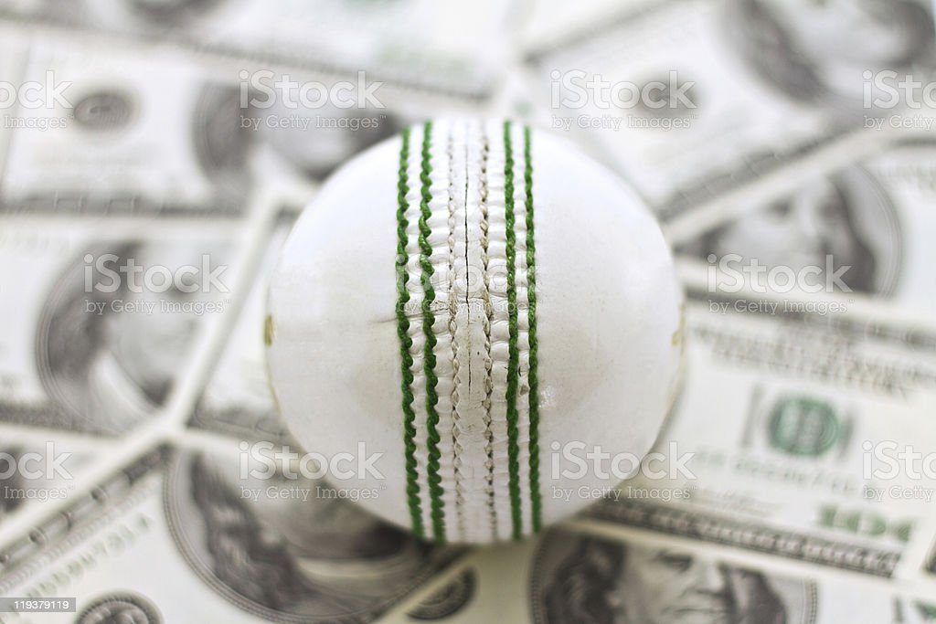 Cricket and Money stock photo