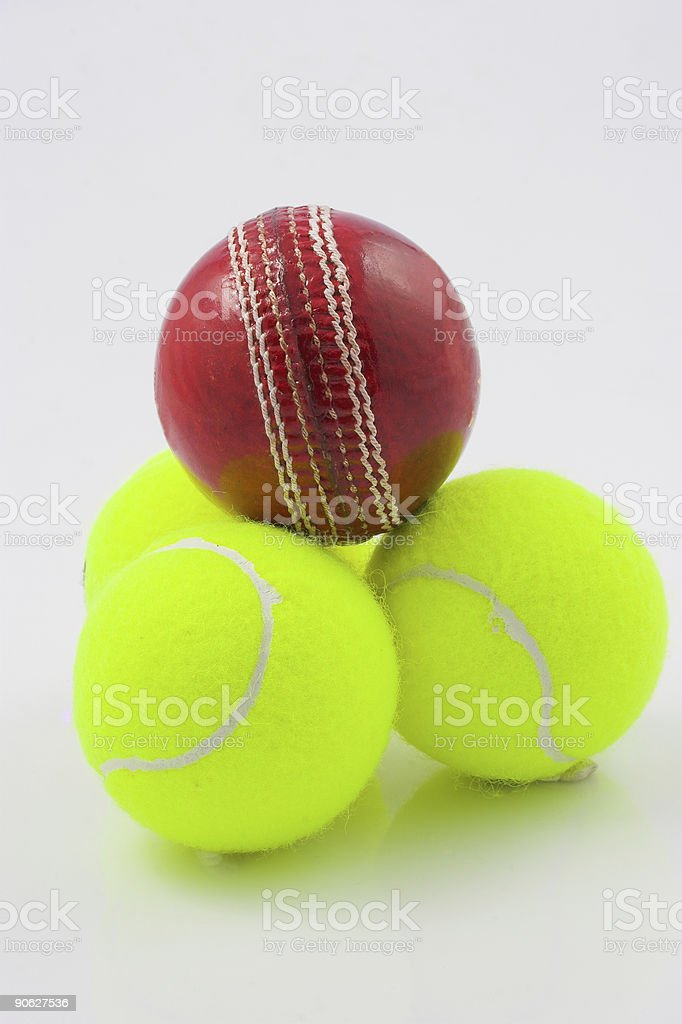 Cricket and tennis royalty-free stock photo