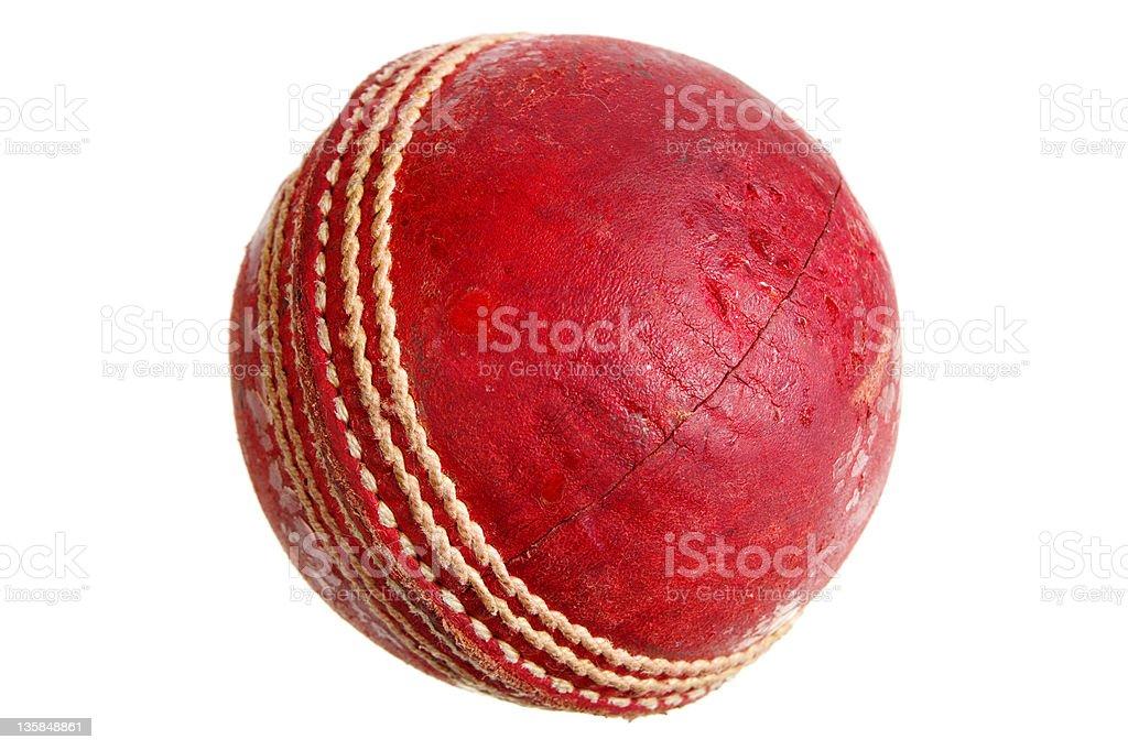 Cricket Ball Isolated On White stock photo