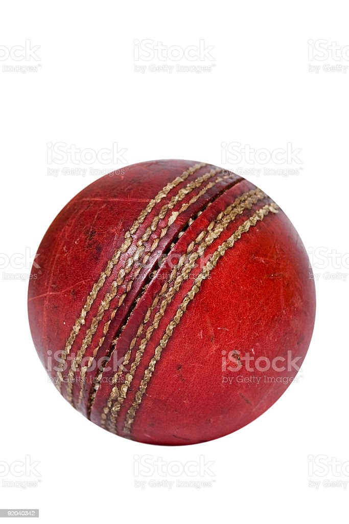 Cricket ball royalty-free stock photo