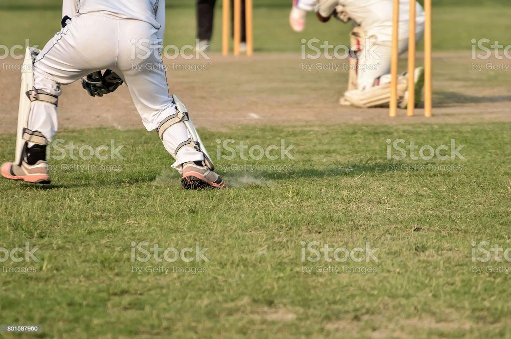 Cricket Batsman stock photo