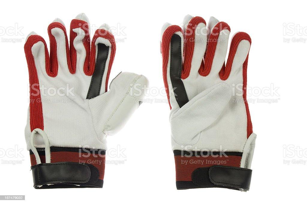 Cricket batter gloves stock photo