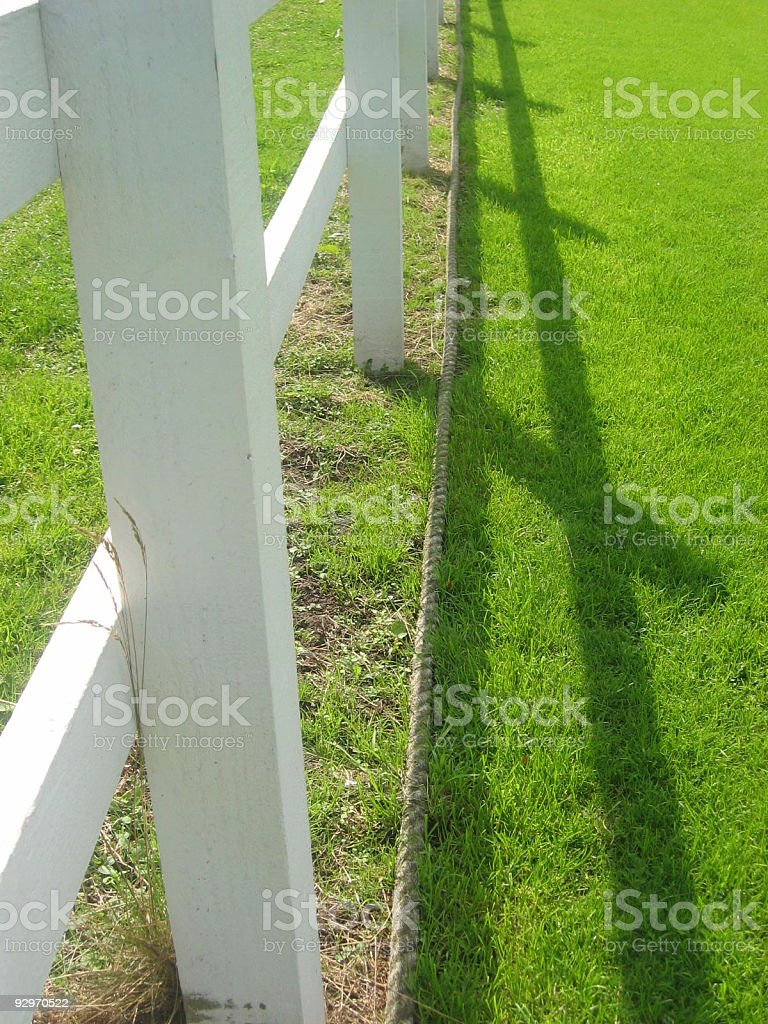 Cricket boundary royalty-free stock photo