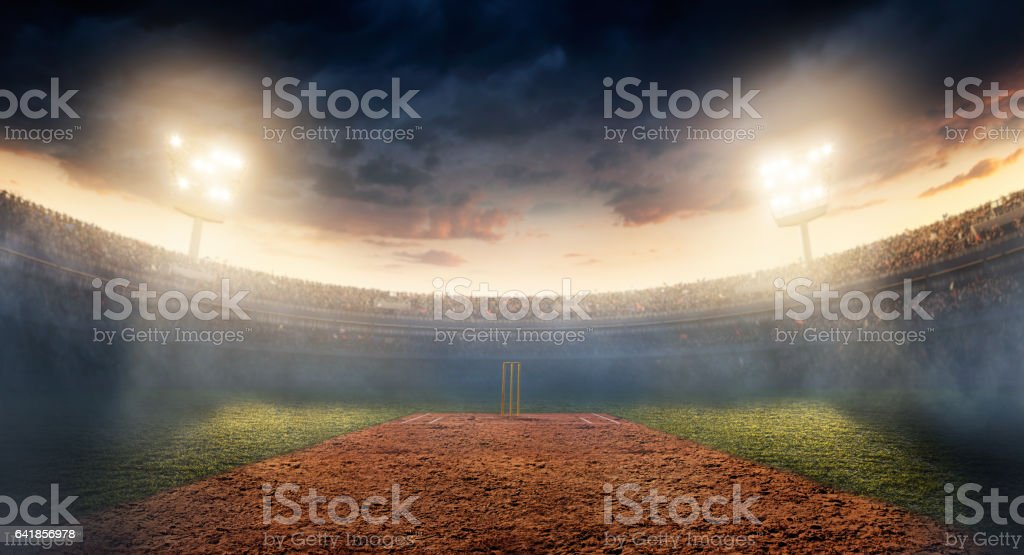 Cricket: Cricket stadium stock photo