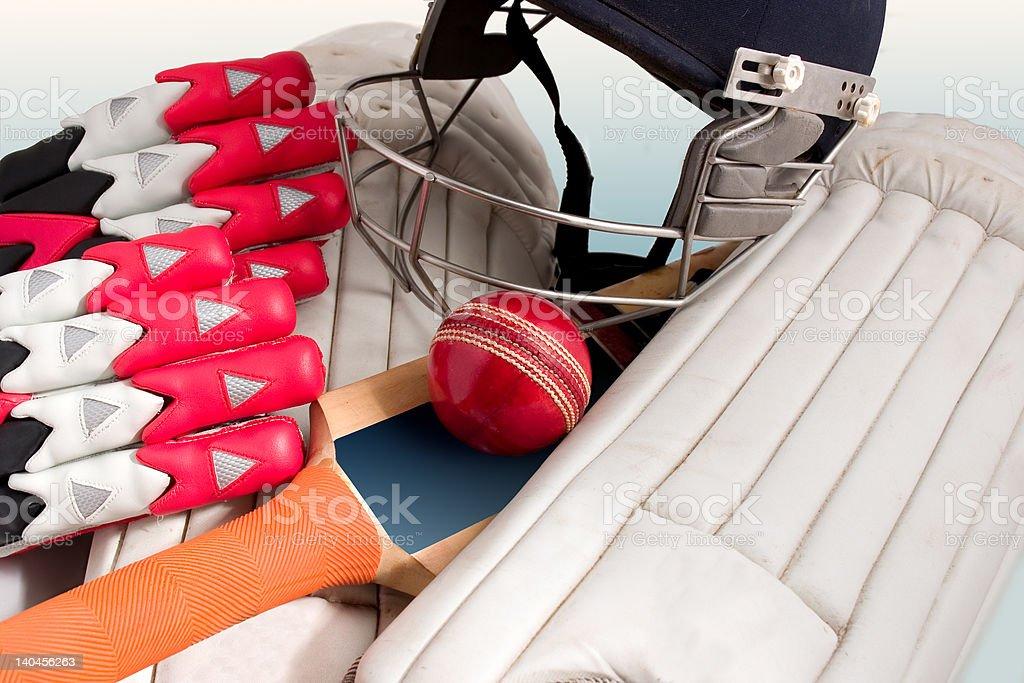 Cricket equipment royalty-free stock photo
