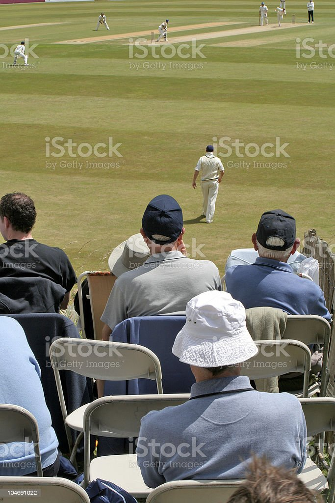 Cricket fans and match stock photo