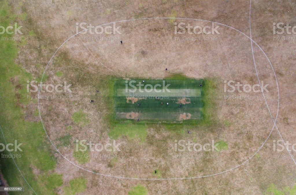 Cricket Ground. stock photo