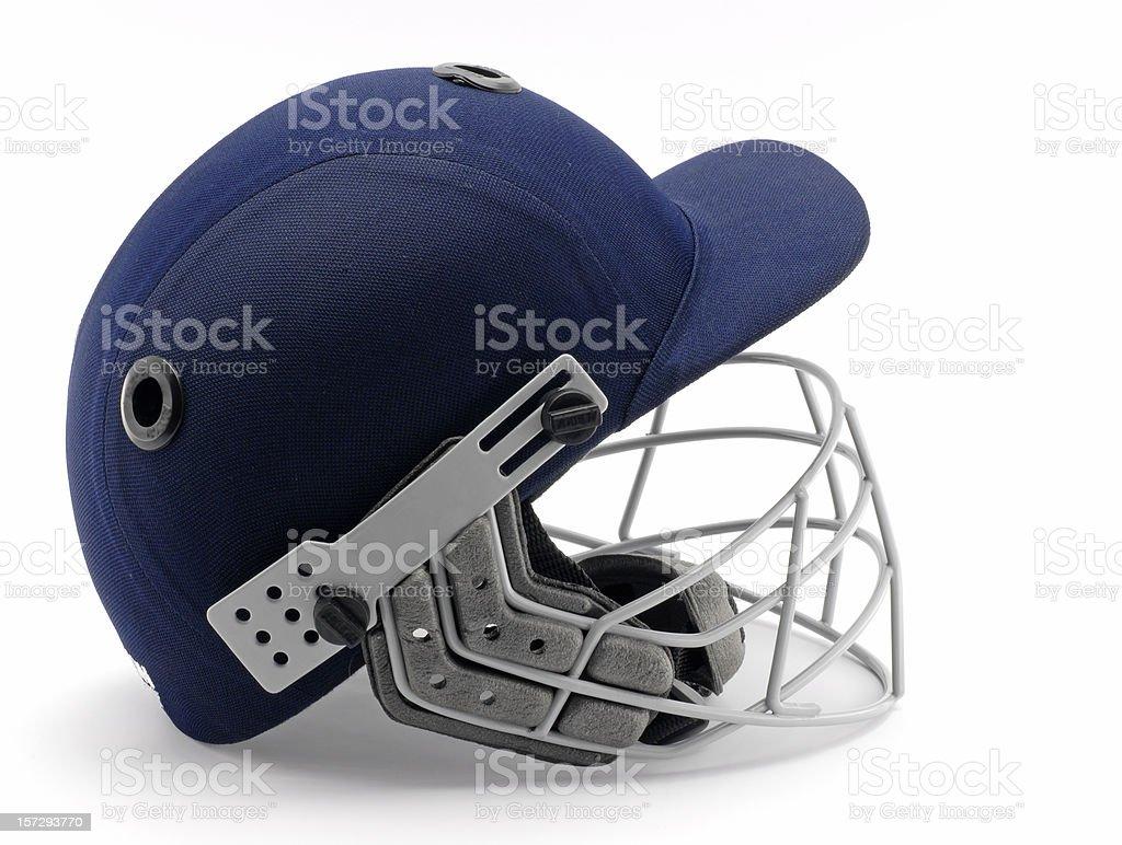 Cricket helmet royalty-free stock photo
