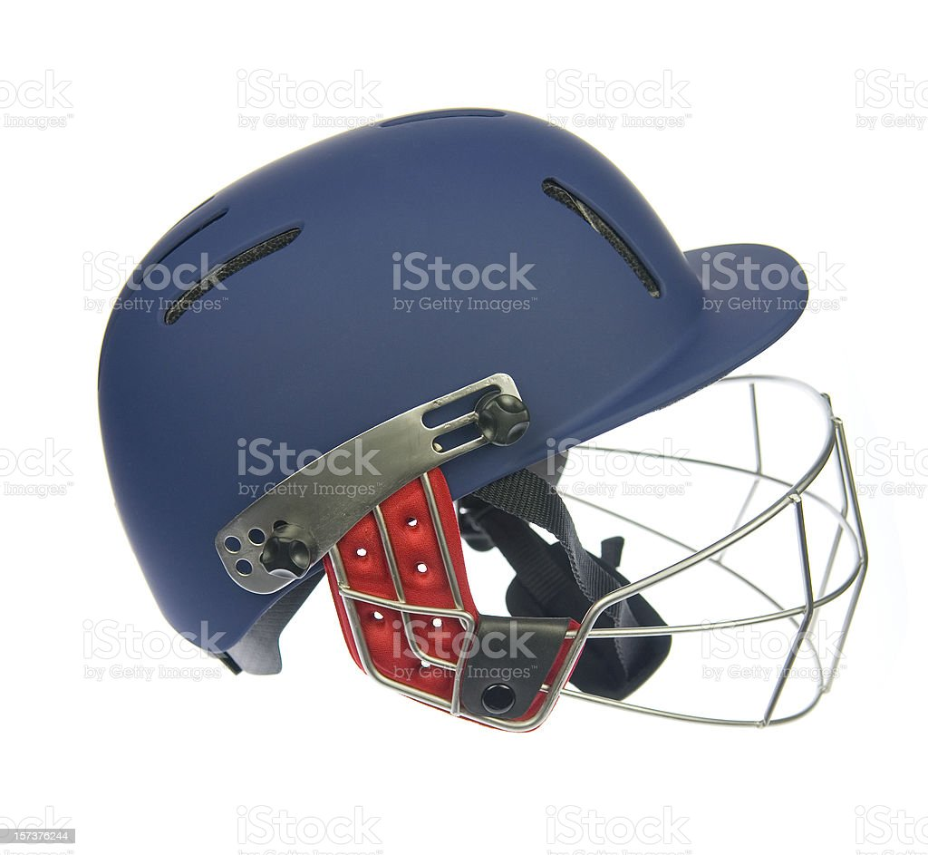 Cricket helmet royalty-free stock photo