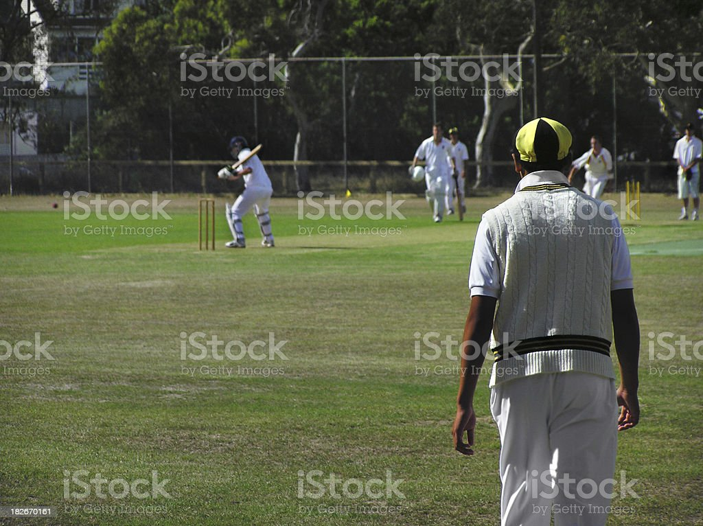 Cricket match royalty-free stock photo