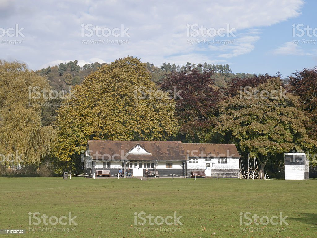 Cricket Pavillion royalty-free stock photo
