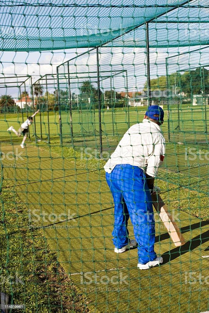 Cricket practice royalty-free stock photo