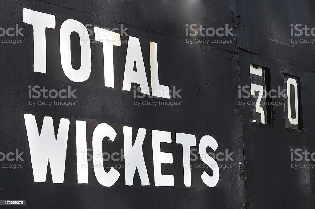 Cricket Score board royalty-free stock photo