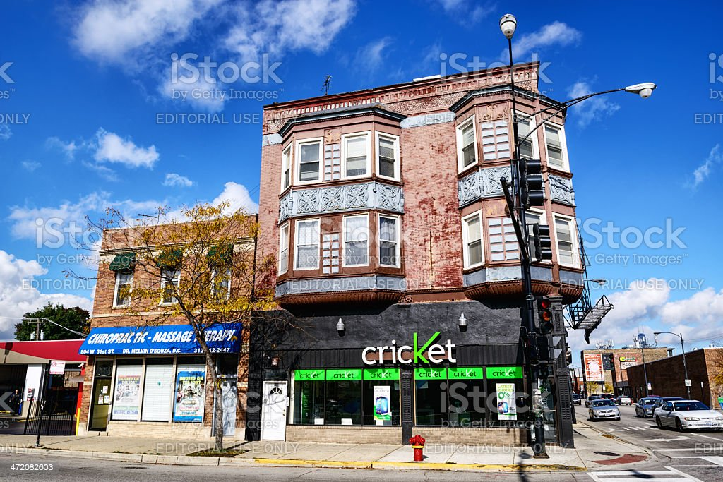 Cricket smartphone store in Chicago stock photo