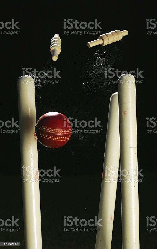 Cricket Stumps stock photo