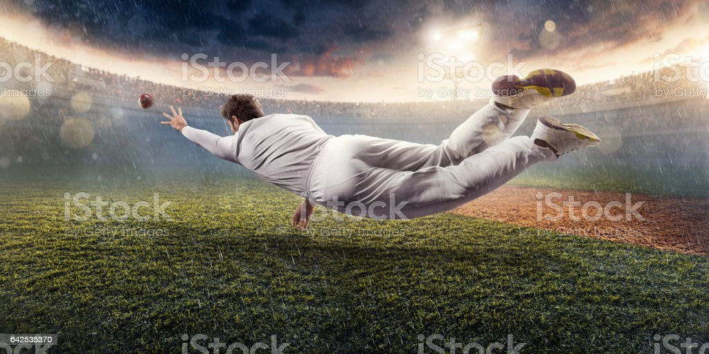 Cricket: The game moment stock photo