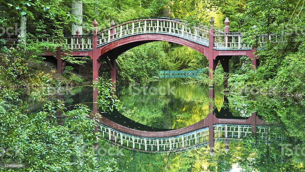 Crim Dell Bridge stock photo