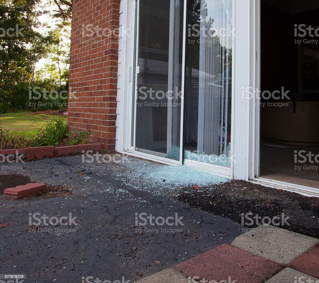 Crime aftermath stock photo